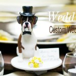 Dogs in Weddings Ideas: Custom Cake Toppers by Laurie Valko