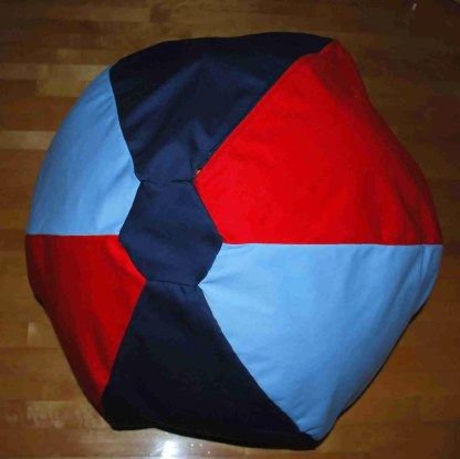 Pouf bean bag - Marine bleu rouge