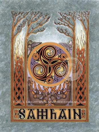 "Samhain: 7"" x 9"", acrylic inks on paper."