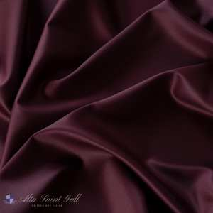 Tailor Box - Wool satin double face berry red