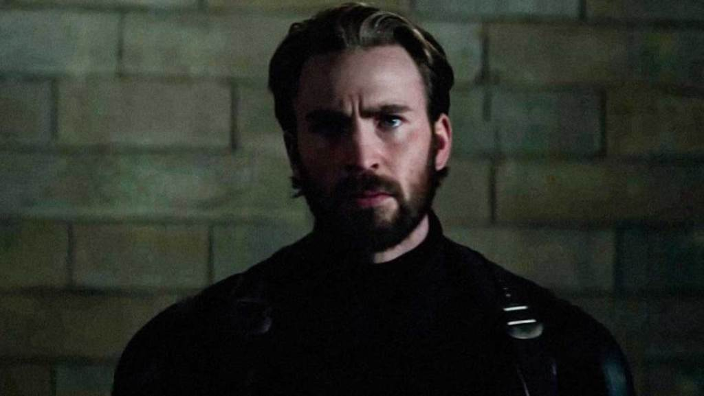 Captain America Infinity War with a beard