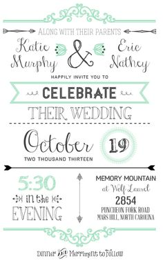 7a Wedding Invitation With All The Information