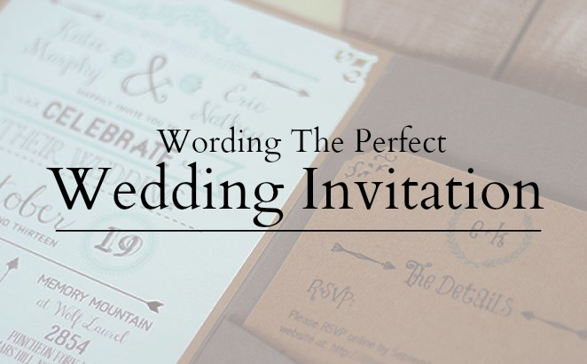 Wedding Invitation Wording Word The Perfect Invite