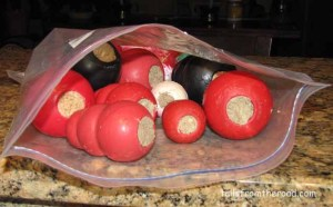"Kongs stuffed with can food and frozen. These make great ""busy work""."