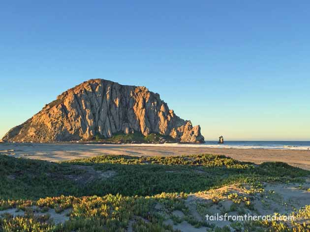 Morro Rock, view from the camp spot.