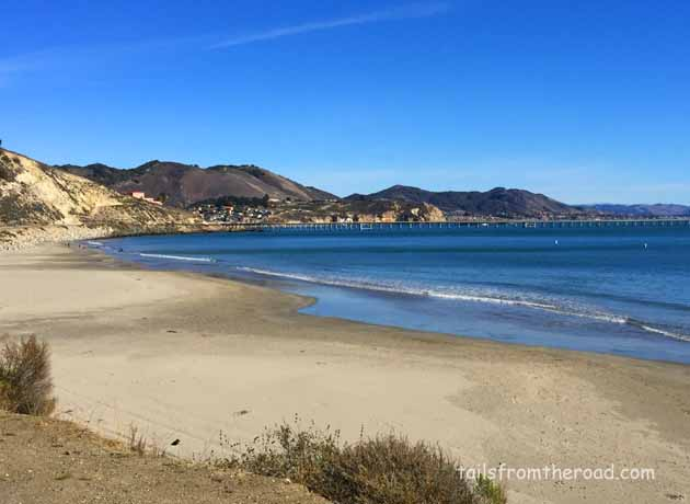 Avila Beach community in the back ground, this is taken from the Port San Luis Camp area. A great place to dry camp.