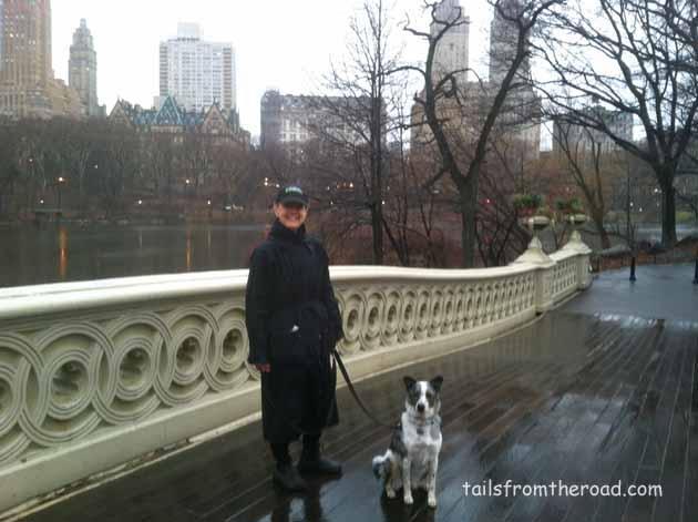 Katherine & Sophie walking in Central Park.
