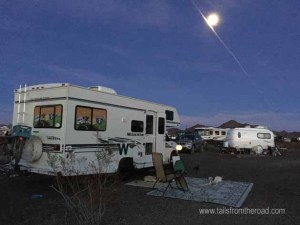 A moonlit night in Quartzsite
