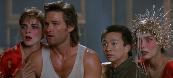 Kim Cattral, Kurt Russell, Dennis Dun and Suzee Pai in 'Big Trouble in Little China'