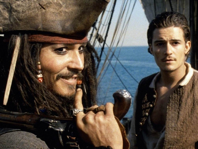 Johnny Depp and Orlando Bloom in 'Pirates of the Caribbean'