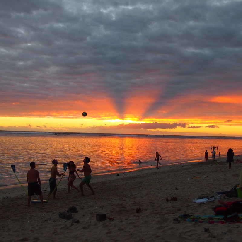 reunion island sunset