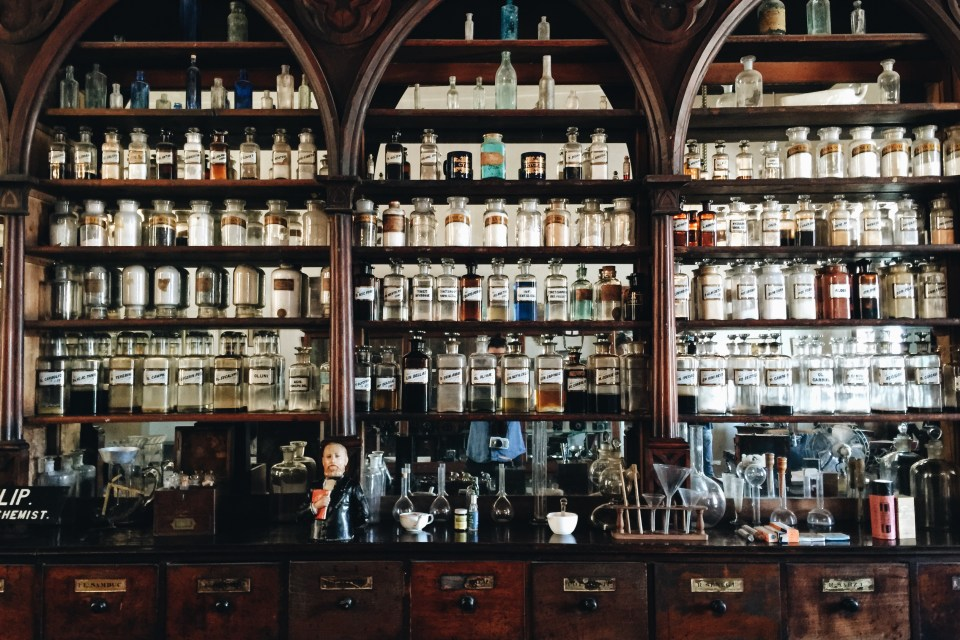 Old apothecary in the museum