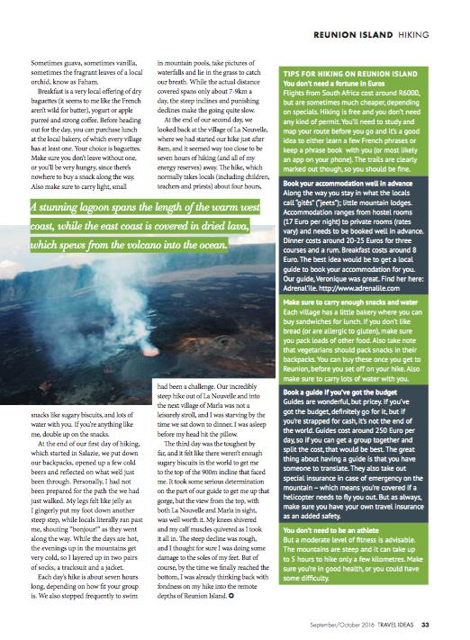 Travel Ideas Magazine Hiking Reunion Island