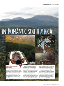 The most romantic hotels in South Africa