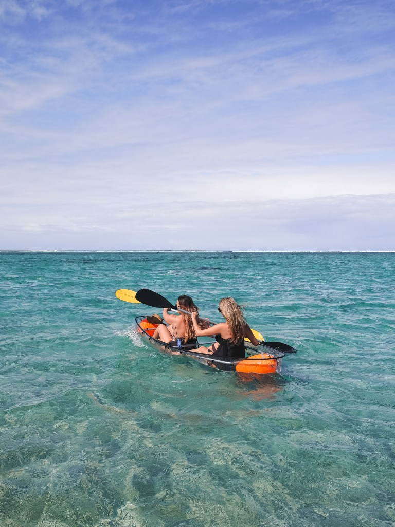 transparent kayak reunion island
