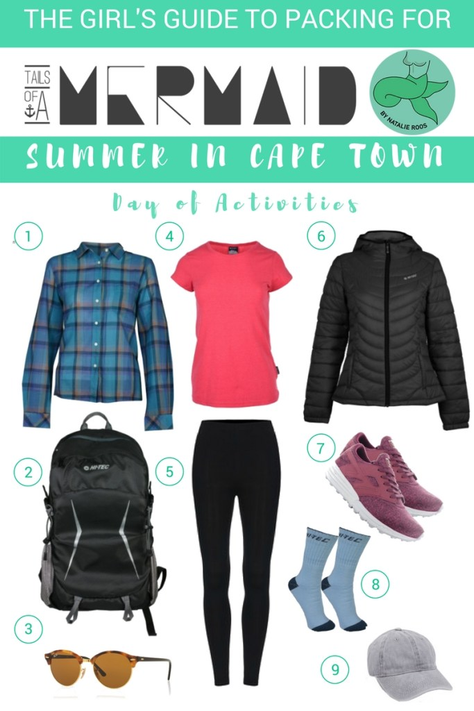 what to pack for summer in cape town
