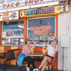 road trip Taco stand San Diego USA