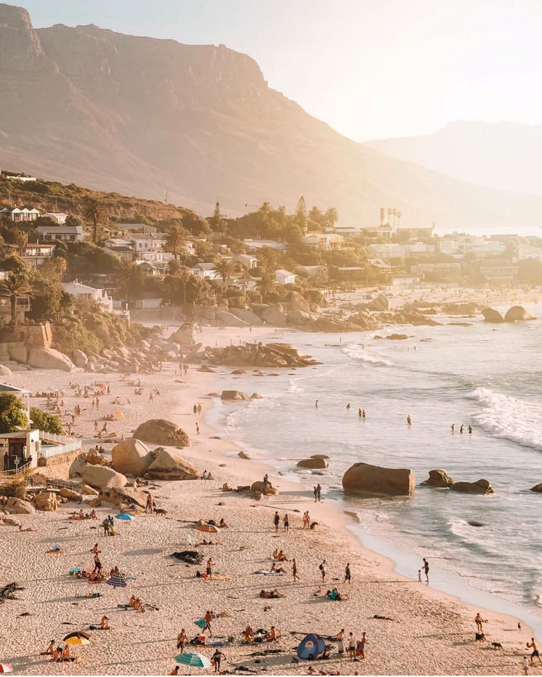 clifton beach cape town sunset