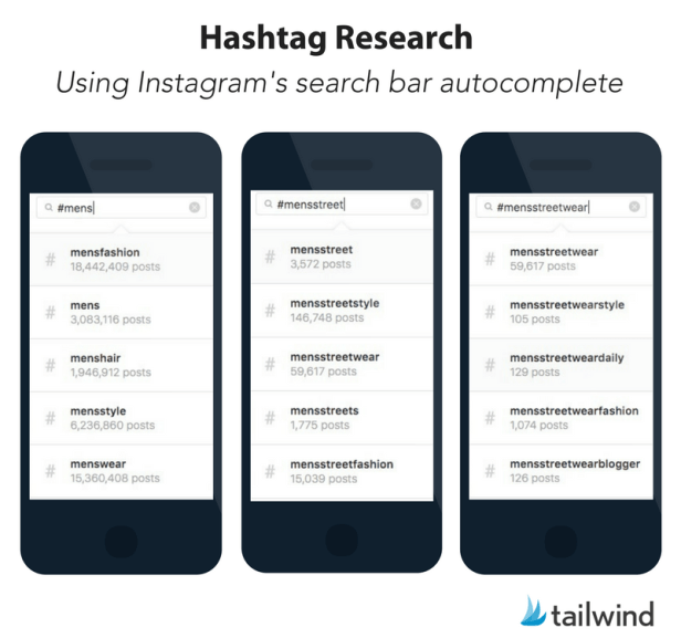 Instagram Hashtag Research Using Instagram's Search Bar Autocomplete