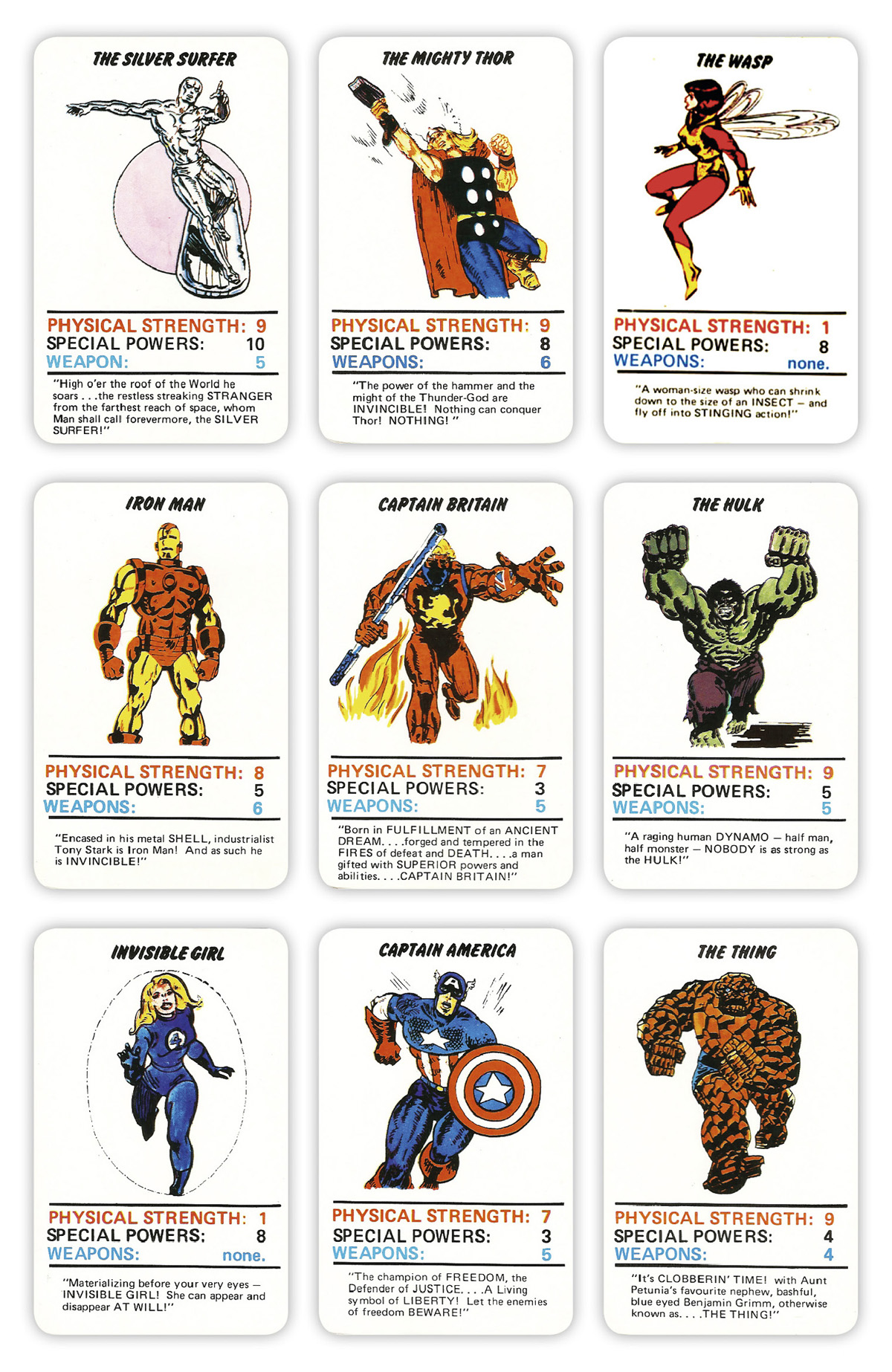 Marvel Worksheet