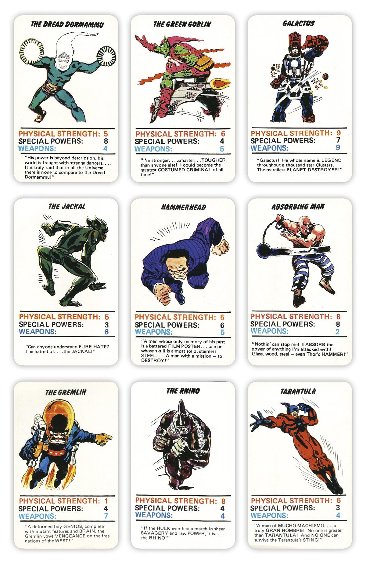 Marvel Superheroes Top Trumps Card Game