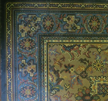 1979.64 [9116] Congoleum rug, donated by Mrs Dodds, 1979