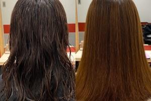縮毛矯正,ストレートパーマ,ビフォーアフター,髪質改善