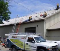 crew on roof