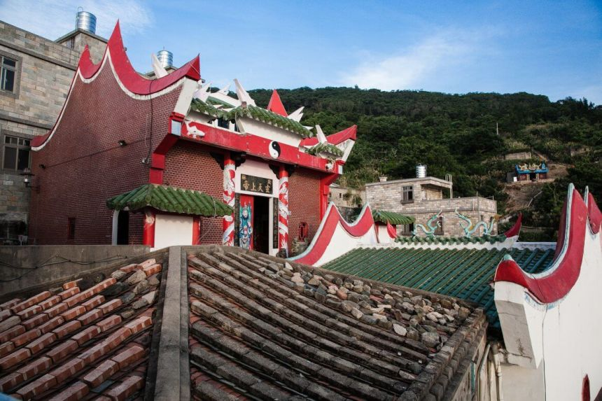 Temple in Qiaozi Village on Beigan Island