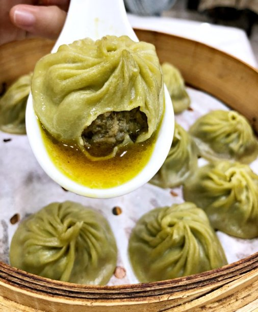 xiao long bao made of oolong tea is really unique (image source: Taiwan Scene)