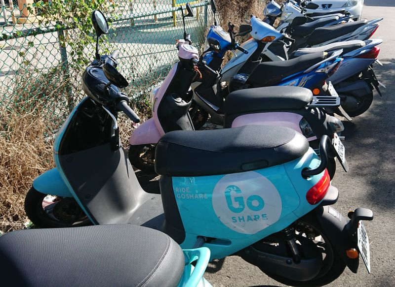 Gogoro is one of the biggest scooter rental companies in Taiwan.