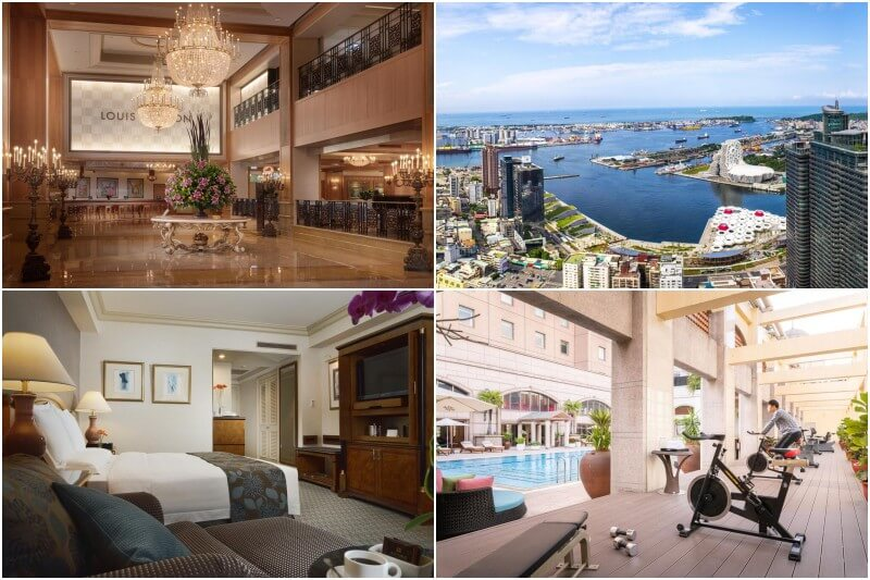 5-star The Grand HiLai Hotel in Kaohsiung with views and gym.