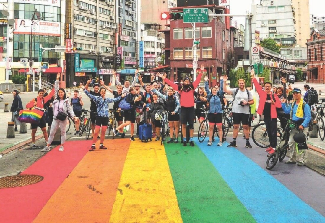 Aisa Rainbow Ride supports the LGBTQ community in Taiwan.