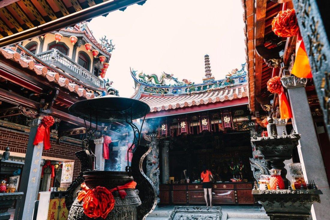 Peitian Temple in Chiayi, Taiwan is a Temple the worship Goddess Mazu.