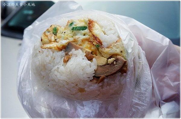 陝西路無名飯糰║超人氣蔥蛋飯糰/荷包蛋飯糰/蛋餅,料多到連飯都包不住,一早就給你元氣滿滿