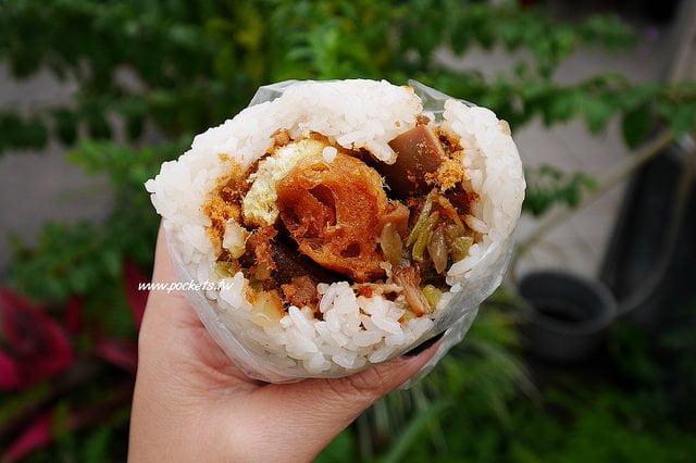 【台中北屯】海島飯糰:台灣人的傳統早餐,北屯地區每天現滷燒肉、滷蛋和爌肉,真材實料的好吃飯糰,鄰近崇德路前方就有停車場