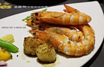 IMG 7746 - Five Ounces 5盎司小富豪鐵板燒,多種新鮮食材可選擇。調味清爽不油膩(已歇業)