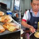 老祖早餐灌蛋餅,40年老店,東勢獨特手工灌蛋餅~哇歐~直接把蛋灌進餅裡面耶~