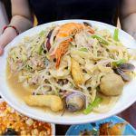台中平價大份量美食│天下一品日式煎餃,超狂巨無霸什錦海鮮炒麵只要一百元