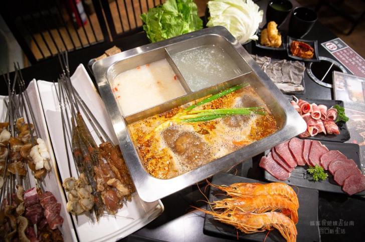 2019 05 28 094111 - 川囍紅湯串串鍋讓你三種湯底一次滿足,食材用串的台南麻辣火鍋