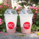 85度C芋頭鮮奶,香濃滑順可以吃到芋頭顆粒,6/15~6/18限定優惠第二杯半價~