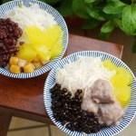 超人氣手工米苔目刨冰與週六限定黑糖粉粿 也有鹹湯圓與正餐喔! 花魯米味
