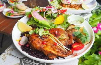 2020 10 31 213142 - 人氣澳式早午餐,the.OZ早午餐有機生菜配主菜,餐點美味配色鮮明真好拍!