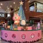 北區中友百貨|小土匪出沒啦!卡娜赫拉聖誕樹就在中友百貨,還有各種隱藏兔兔、P助大貼圖等你來拍照~