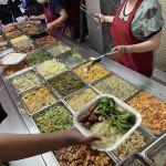 一中街全方位自助餐,學生族群的最愛,20多種菜色均一價10元,內用湯品飲料喝到飽