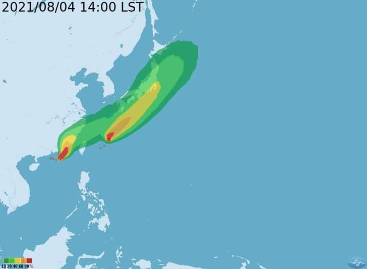 2021 08 04 172110 - 輕颱盧碧今日下午已發布海警!超強對流恐為中南部帶來豪大雨