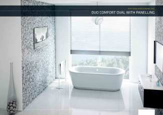 Enamel Bathtub – BLB Duo Comfort Oval with Panelling