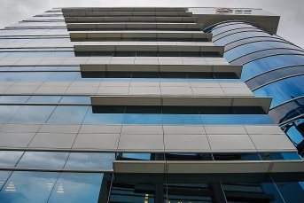 TECO Supplied Vitreous  Enamel Curtain Wall Panels to E-TEN Information Systems Co. Ltd project.