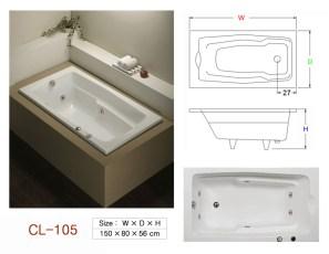 壓克力浴缸 - CL-105