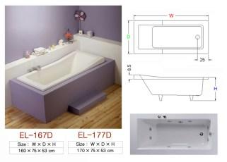 壓克力浴缸 - EL-167D&177D